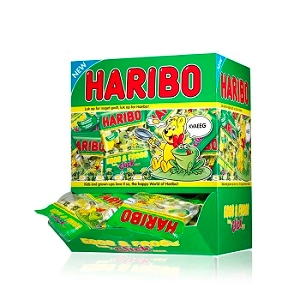 Miniposer Haribo  - 90 stk. Eggs & Frogs